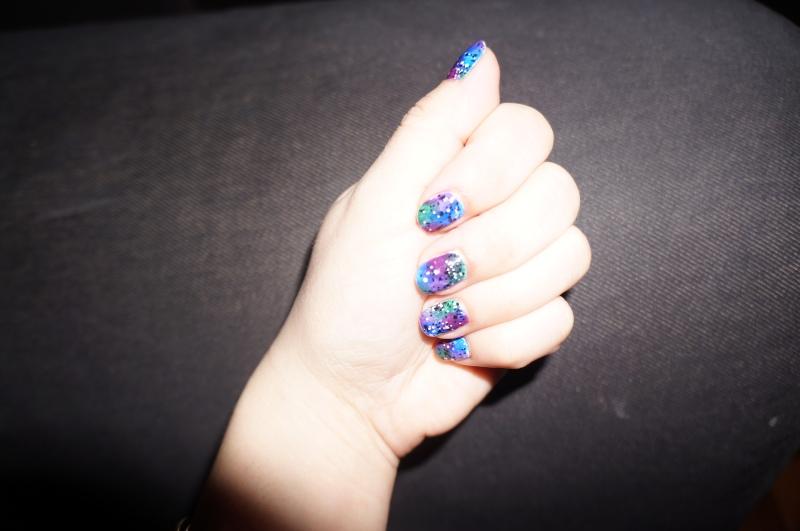 * inspiration Pshiiit * Galaxy nails avec Deborah, Kiko, Ciaté et L'Oreal